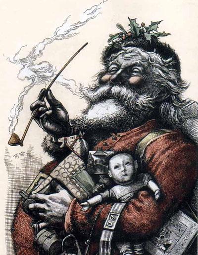 Papai Noel - Cartunista americano Thomas Nast