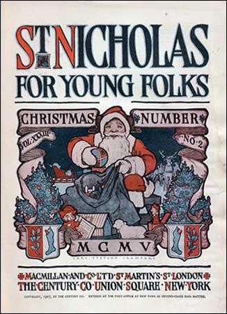 Papai Noel - Carl Stetson Crawford ilustrou o volume XXXIII do livro 2 chamado St. Nicholas for Young Folks.