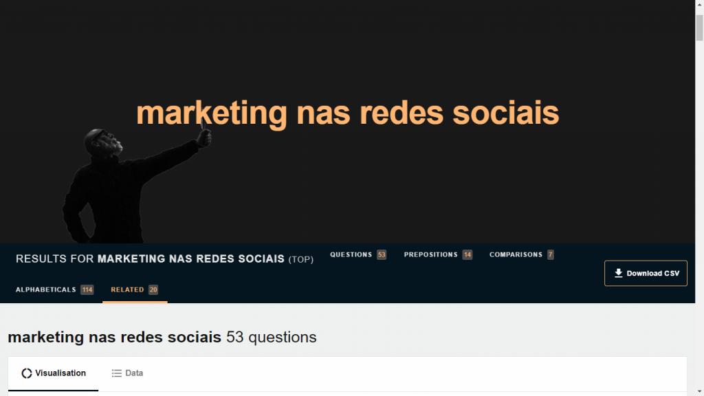 Answer the Public Marketing nas redes sociais