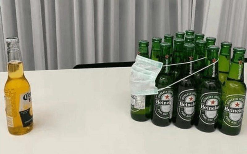corona virus heineken cerveja